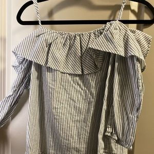 Stripped light blue shirt
